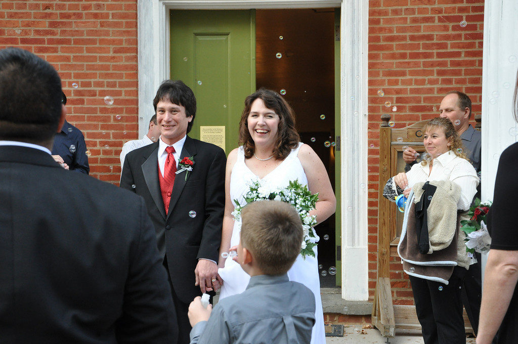 Just married, only seven weeks after giving birth to my fourth son. I don't always do things in the right order, but at least we got it all done!