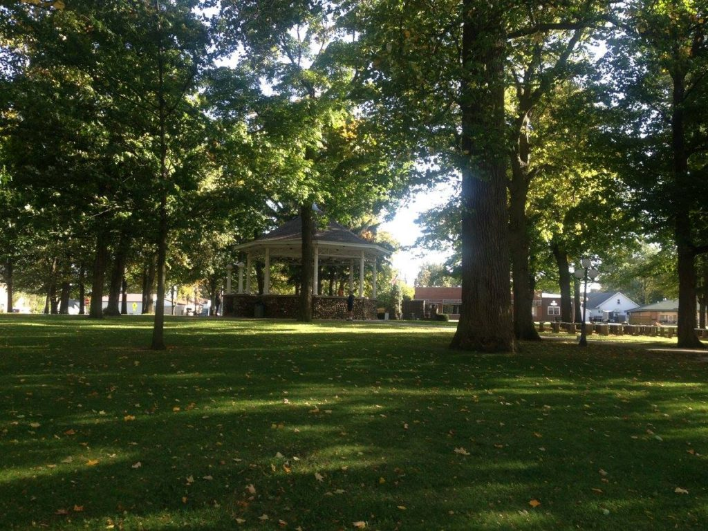 My author pics were taken here at the gazebo at the center of the town square park.